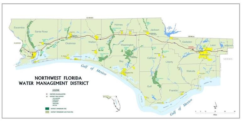 Northwest Florida Map.About Northwest Florida Water Management District